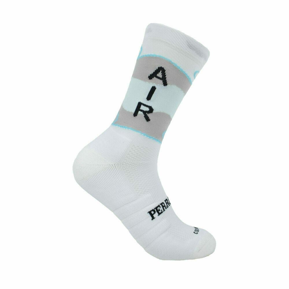 Calcetines para correr caña alta blancos aire
