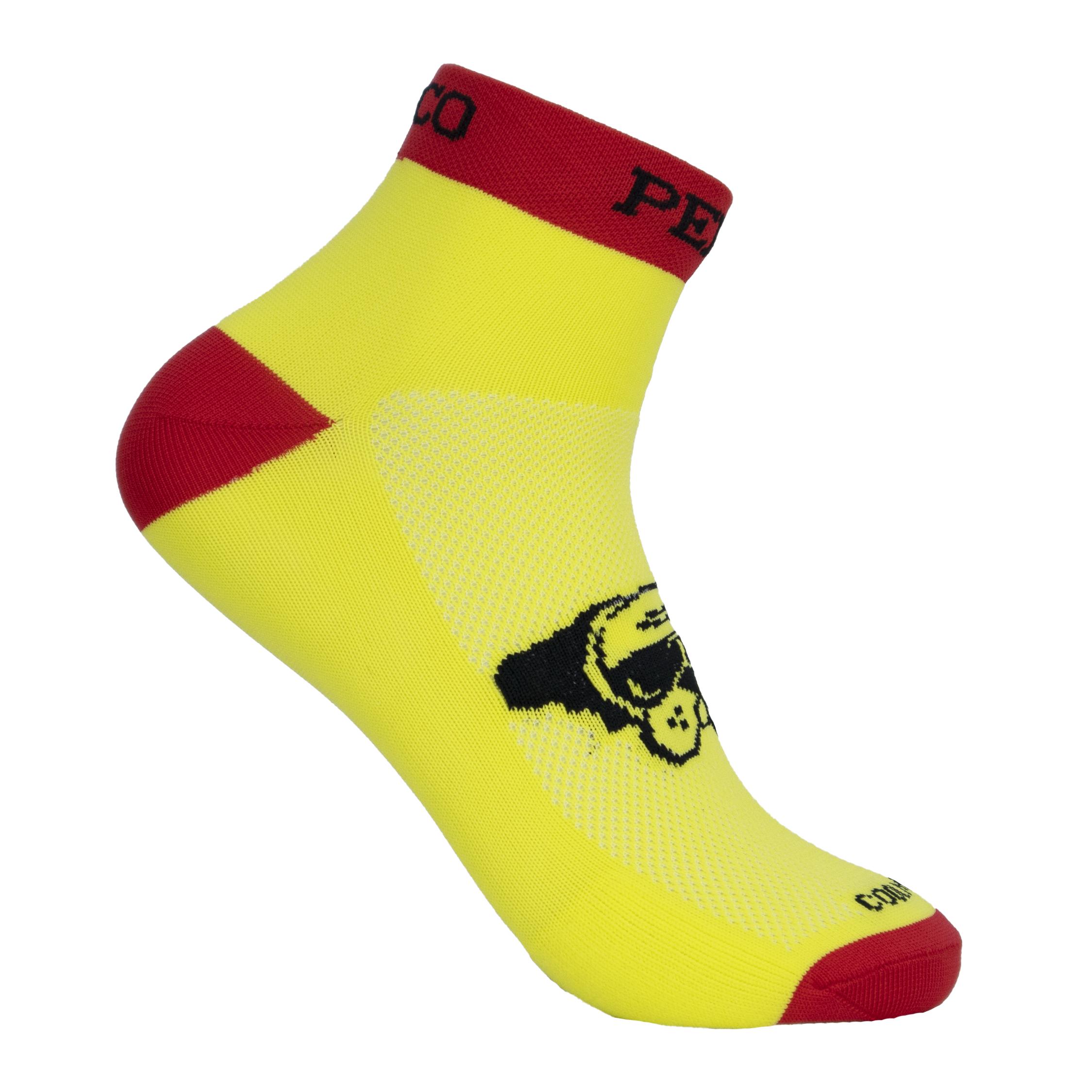 Calcetines tobilleros running amarillos