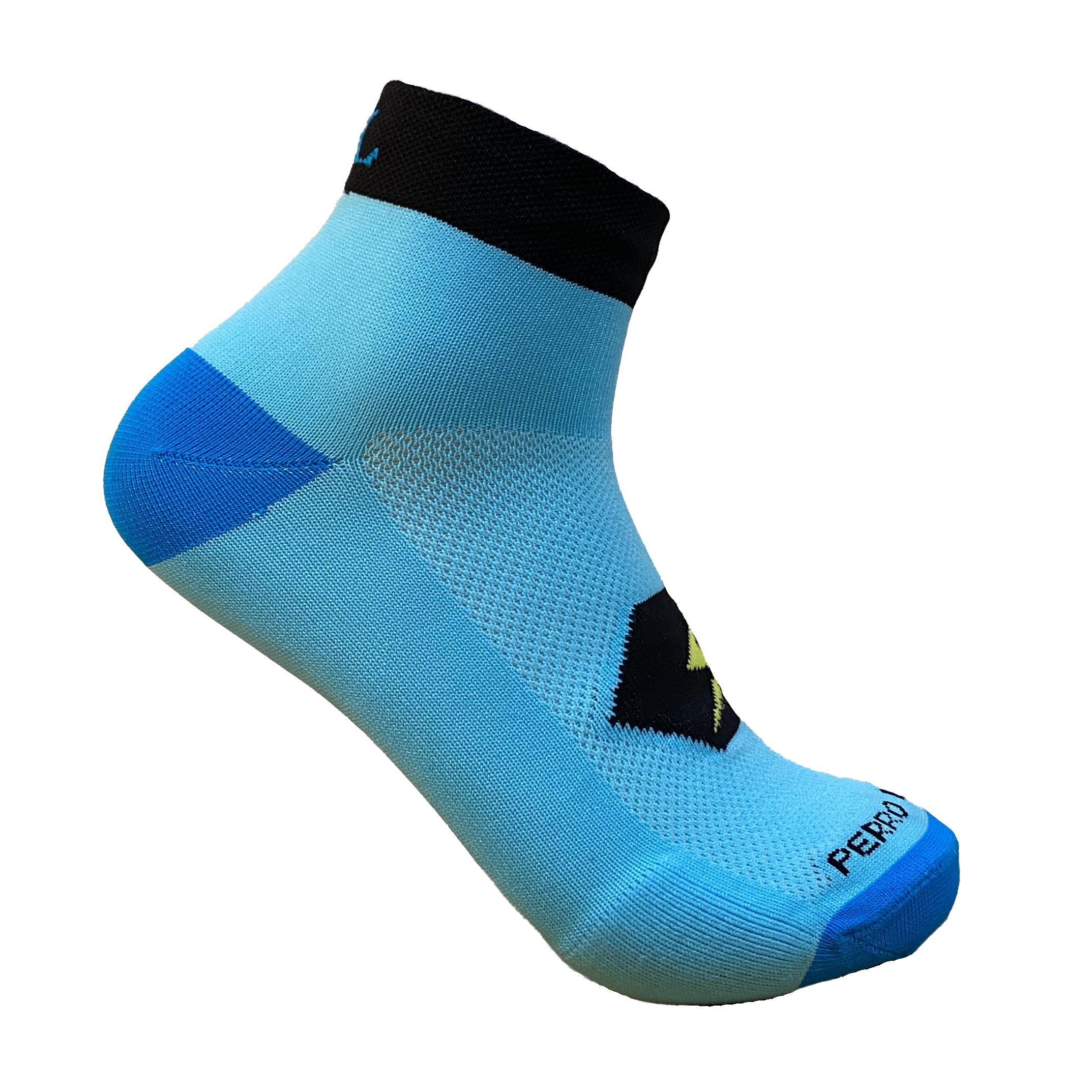 Calcetines para correr tobilleros azul
