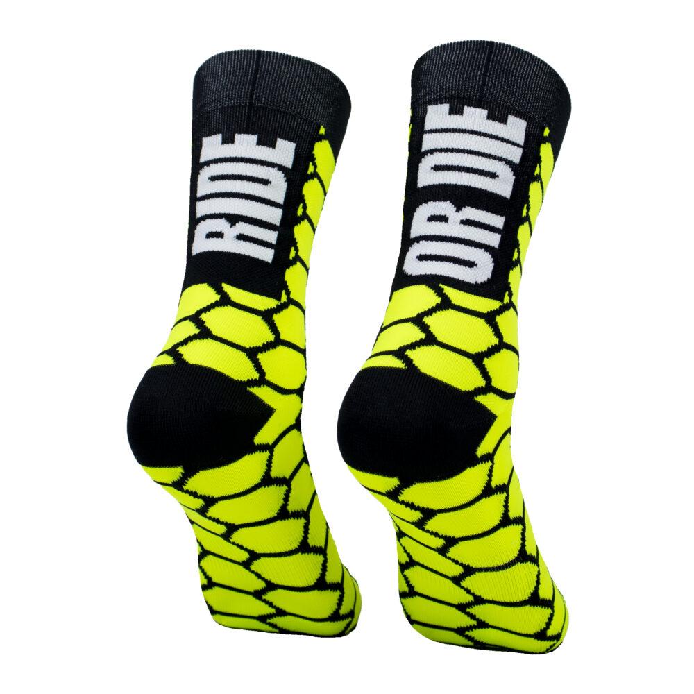 Calcetines altos ciclismo amarillos