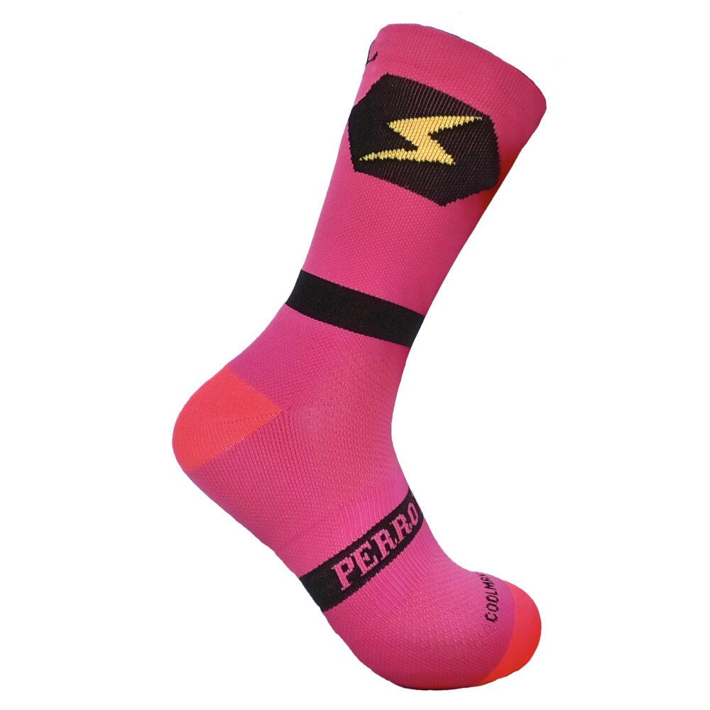 Calcetines para correr anti olores rosas
